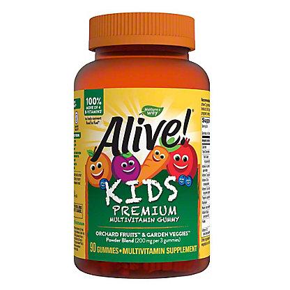 Nature's Way Alive! Gummies Multi-Vitamin For Children Assorted Flavors,90 CT