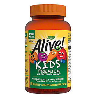 Nature's Way Alive! Gummies Multi-Vitamin For Children Assorted Flavors,90 CT