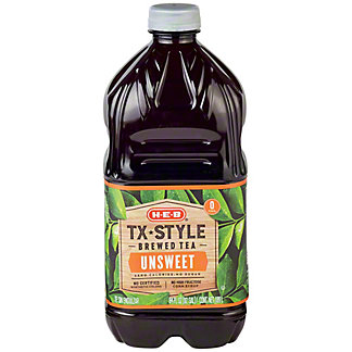H-E-B Texas Style Unsweet Tea,64 OZ