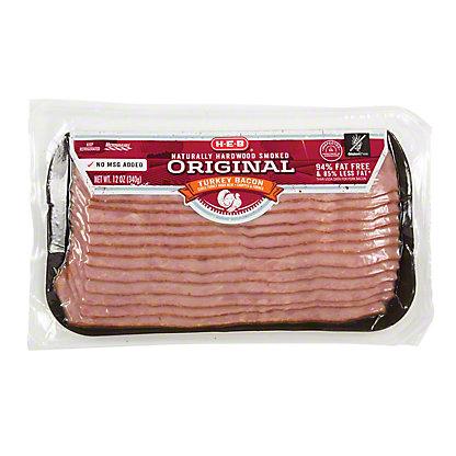 H-E-B Turkey Hardwood Smoked Bacon,12 OZ