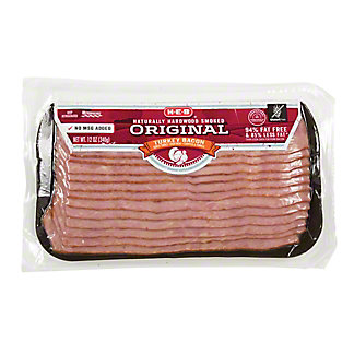 H-E-B Turkey Hardwood Smoked Bacon,12 OZ