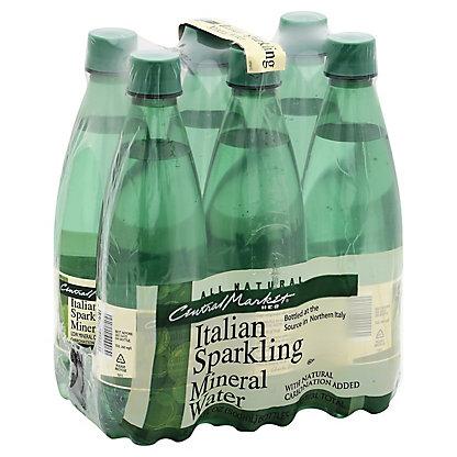 Central Market Italian Sparkling Mineral Water, 6 - 16.9 fl oz