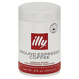 Illy Ground Espresso Medium Roast Coffee, 8.8 oz