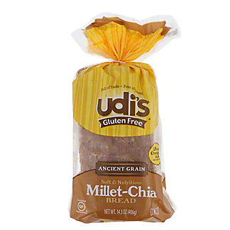 Udi's Gluten Free Millet Chia Bread,14.3 OZ
