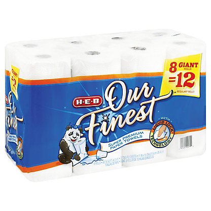 H-E-B Our Finest Full Sheet Giant Roll Paper Towels, 8 ct