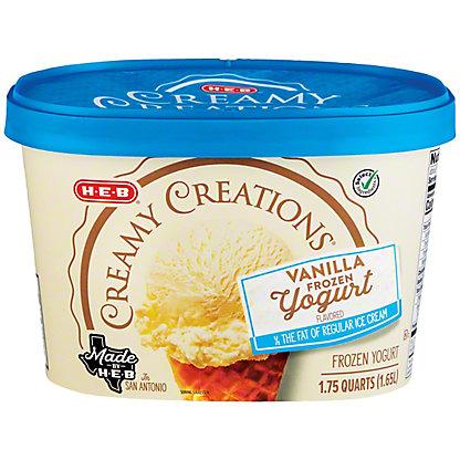 H-E-B Creamy Creations Churn Style Lowfat Vanilla Yogurt,1.75 qt