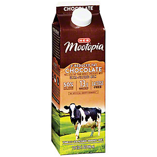 H-E-B MooTopia Reduced Fat 2% Milkfat Chocolate Milk, 1 qt