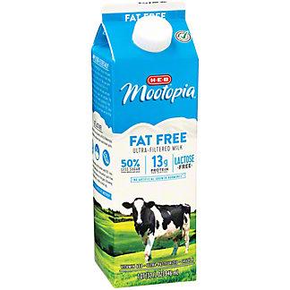 H-E-B MooTopia Fat Free Milk,1 QT