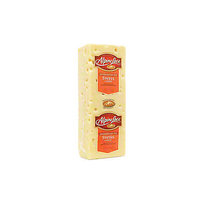 Alpine Lace Reduced Fat Swiss Cheese, sold by the,pound