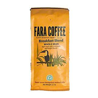 Fara Coffee Breakfast Blend Light Roast Whole Bean Coffee, 12 oz