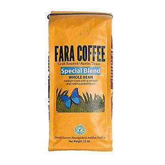 Fara Coffee Special Blend Medium Roast Whole Bean Coffee, 12 oz