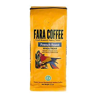 Fara Coffee Arabica Whole Bean French Roast Coffee, 12 oz