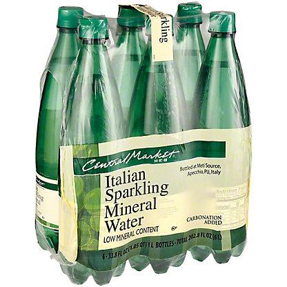 Central Market All Natural Sparkling Water, 6 pk, 33.8 oz