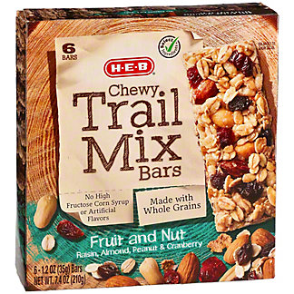 H-E-B Select Ingredients Chewy Fruit and Nut Trail Mix Bars,6 CT