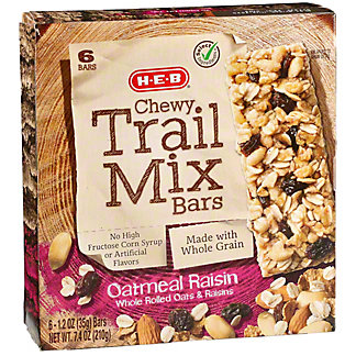 H-E-B Select Ingredients Chewy Oatmeal Raisin Trail Mix Bars,6 CT