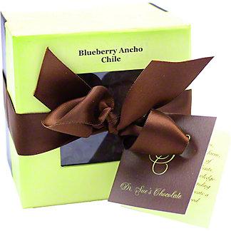 DR SUE''S CHOCOLATE Dark Chocolate Blueberry Ancho Chile Bark, 8 OZ