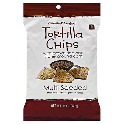 Central Market Multi Seeded Tortilla Chips, 14 oz