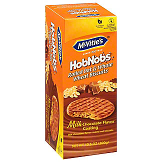 McVitie's HobNobs Rolled Oat and Whole Wheat Milk Chocolate Biscuits, 10.5 oz