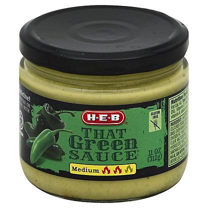 H-E-B That Green Sauce Medium, 11 oz