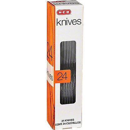 H-E-B Premium Clear Plastic Knives,24.00 ea