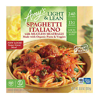 Amy's Light & Lean Spaghetti Italiano, 8 oz