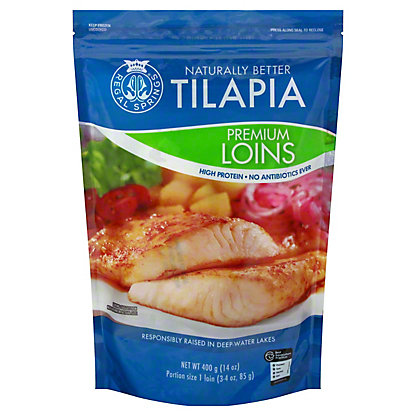 Regal Springs Premium Hand-Cut All White Meat Tilapia Select Loins,14 OZ