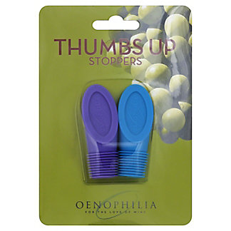 Oenophilia Thumbs Up Stoppers, 2 ct