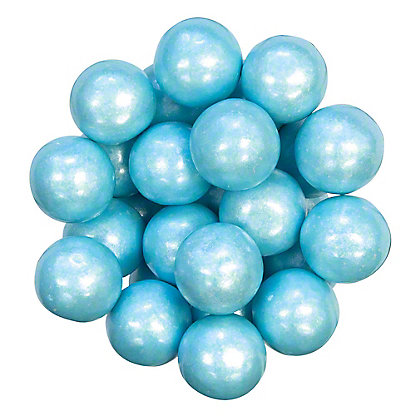 Bulk Shimmer Blue Gumballs, Sold by the pound