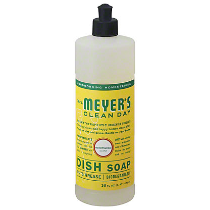 Mrs. Meyer's Clean Day Honeysuckle Scent Liquid Dish Soap, 16 oz