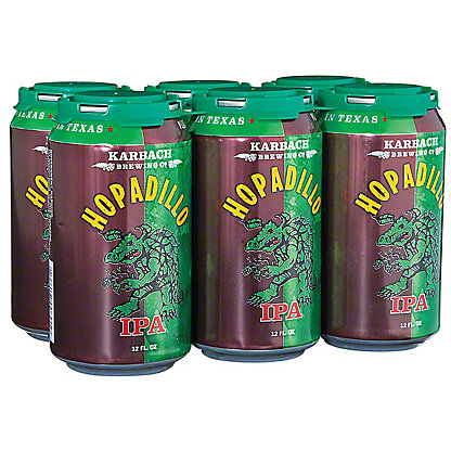 Karbach Hopadillo Indian Pale Ale 6 PK Cans,12 OZ