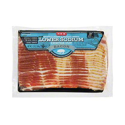 H-E-B Premium Lower Sodium Bacon,12 oz