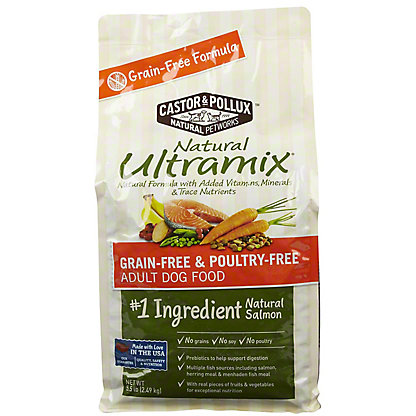 Castor & Pollux Ultramix Adult Salmon Dog Food,5.5 LB