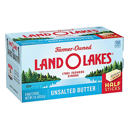 Land O Lakes Unsalted Sweet Butter, 8 ct