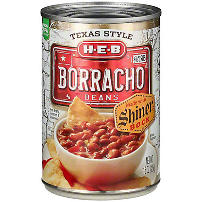 H-E-B Borracho Beans with Shiner Bock,15 oz