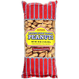Hines Roasted No Salt Jumbo Virginia In Shell Peanuts,1 LB