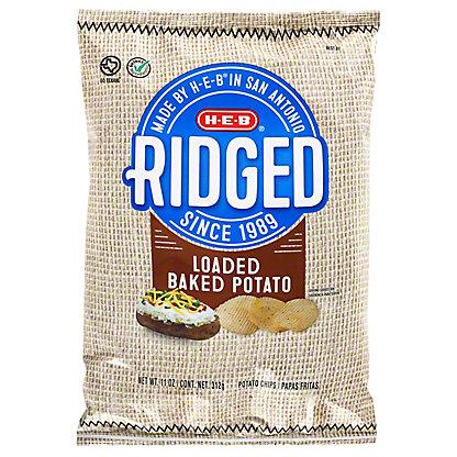 H-E-B Ridged Loaded Baked Potato Potato Chips,11.00 oz