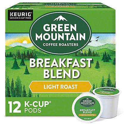 Green Mountain Coffee Breakfast Blend Light Roast Single Serve Coffee K Cups, 12 ct