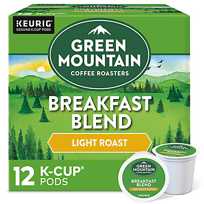 Green Mountain Coffee Breakfast Blend Light Roast Single Serve Coffee K Cups, 12 ct