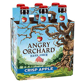 Angry Orchard Crisp Apply Hard Cider 6 PK Bottles,12 oz