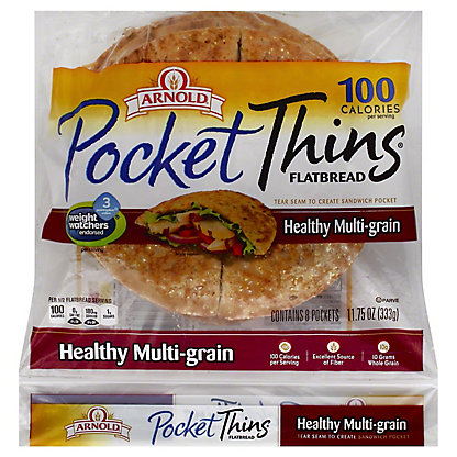 Oroweat Pocket Thins 8 Grain Flatbread, 11.75 oz