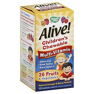Natures Way Alive Kids Chewables, 120 CT