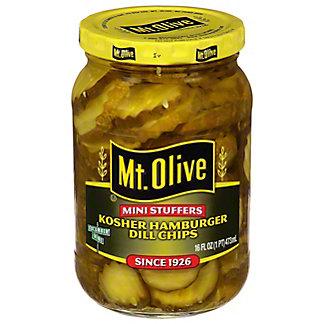 Mt. Olive Mini Stuffers Hamburger Dill Chips, 16 oz