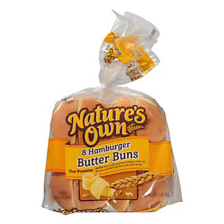 Nature's Own Sliced Butter Buns Hamburger,8 ea