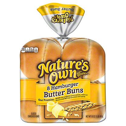 Nature's Own Sliced Butter Buns Hamburger,8 ea