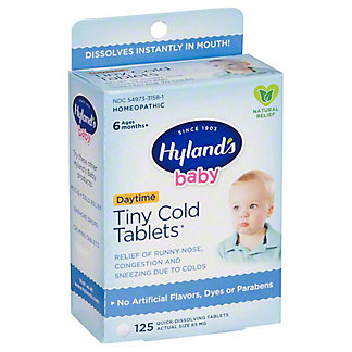 Hyland's Baby Quick-Dissolving Tiny Cold Tablets, 125 ct