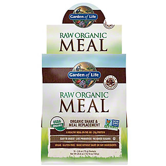 Garden of Life Raw Meal Beyond Organic Chocolate Cacao Meal Replacement Formula, 10 CT