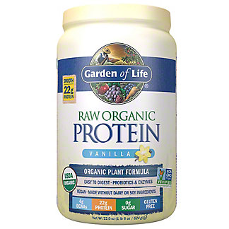 Garden of Life Raw Protein Vanilla Organic Protein Formula,22 OZ
