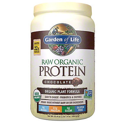 Garden of Life Raw Protein Chocolate Cacao Organic Protein Powder, 650 g