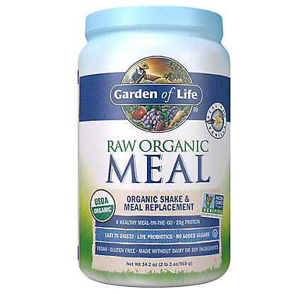 Garden of Life Raw Meal Vanilla Beyond Organic Meal Replacement Formula,2.5 LB