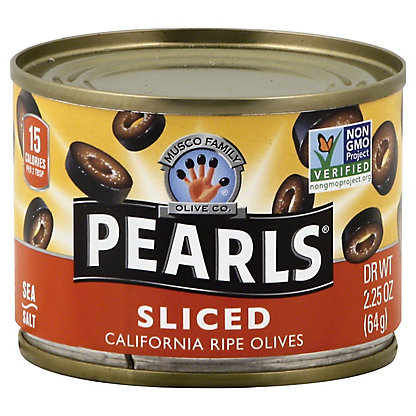 Musco Family Olive Co. Sliced Ripe Black Pearl Olives,2.25 OZ